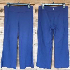 Athleta Navy Revelation Yoga Flare Pants. Sz LP.